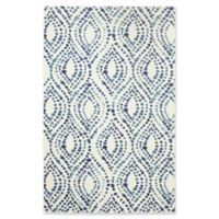 """Mohawk Dotted Ogee 3'9"""" x 5' Area Rug in Navy"""