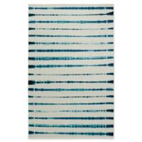 """Mohawk Linear Pigment 3'9"""" x 5' Area Rug in Navy"""