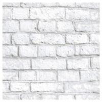 RoomMates® Brick Peel & Stick Wallpaper in White