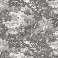 Roommates® Jungle Toile Peel and Stick Vinyl Wallpaper