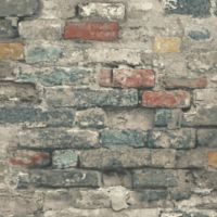 Roommates® Peel & Stick Brick Alley Wallpaper in Teal