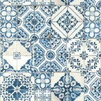 Roommates® Peel & Stick Mediterranean Tile Wallpaper in Blue