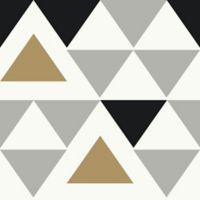 Roommates® Peel & Stick Geometric Triangle Wallpaper in Black