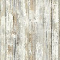 RoomMates® Peel & Stick Distressed Wood Wallpaper in Tan