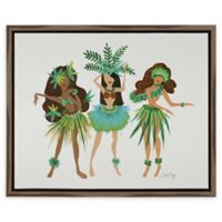 Cat Coquillette Luau Ladies Framed Canvas Wall Art