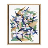 Elena Blanco Granny Blue Framed Canvas Wall Art
