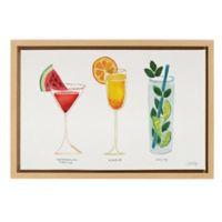 Cat Coquillette Summer Cocktails Framed Canvas Wall Art