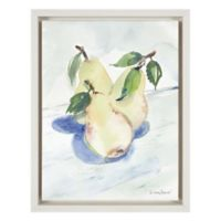 3 Pears 11-Inch x 14-Inch Framed Wall Art in True White