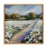 The Land of Cotton 24-Inch Square Framed Wall Art
