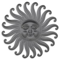 Ridge Road Décor 30-Inch x 30-Inch Eclectic Iron Sun Wall Art in Grey