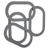 Abstract 29-Inch x 30-Inch Iron Metal Art in Gray