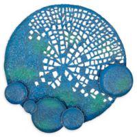 Ridge Road Décor 40-Inch Eclectic Sphere Metal Wall Art in Blue/Green