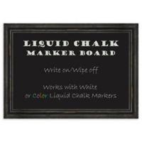 Amanti Art® Liquid Chalk 27-Inch x 19-Inch Marker Board with Rustic Pine Frame
