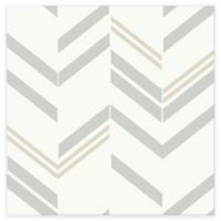 RoomMates® Chevron Stripe Peel & Stick Wallpaper in Grey
