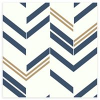 RoomMates® Chevron Stripe Peel & Stick Wallpaper in Blue