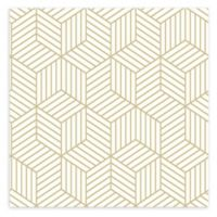 Roommates® Striped Hexagon Peel and Stick Wallpaper in White/Gold