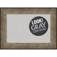 Amanti Art® Small Framed Grey Cork Board in Pewter