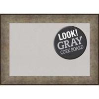 Amanti Art® Medium Framed Grey Cork Board in Pewter