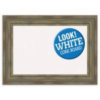 Amanti Art Alexandria 30-Inch x 22-Inch Framed Cork Board in Grey Wash