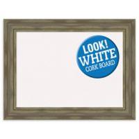 Amanti Art Alexandria 34-Inch x 26-Inch Framed Cork Board in Grey Wash