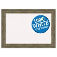 Amanti Art Alexandria 42-Inch x 30-Inch Framed Cork Board in Grey Wash