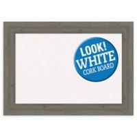 Amanti Art 29-Inch x 21-Inch Framed Cork Board in Fencepost Grey