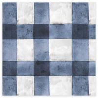 RoomMates® Buffalo Plaid Peel & Stick Wallpaper in Blue