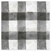 RoomMates® Buffalo Plaid Peel & Stick Wallpaper in Black