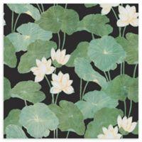 Roommates® Lily Pads Vinyl Peel & Stick Wallpaper in Black