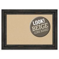 Amanti Art® Small Framed Beige Cork Board in Rustic Pine