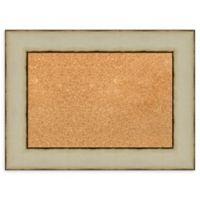 Amanti Art® Small Framed Cork Board in Rusted Cream
