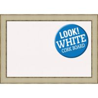 Amanti Art® Extra-Large Framed White Cork Board in Rusted Cream
