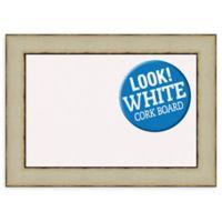 Amanti Art® Medium Framed White Cork Board in Rusted Cream