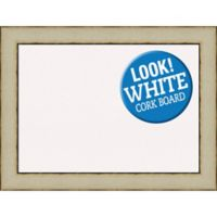 Amanti Art® Large Framed White Cork Board in Rusted Cream