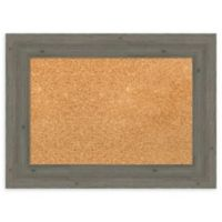 Amanti Art® Small Framed Cork Board in Fence Post Grey