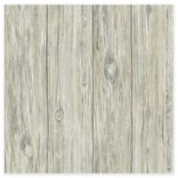 RoomMates® Mushroom Wood Peel & Stick Wallpaper in Grey