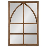 Kate and Laurel Hogan 24-Inch x 36-Inch Arch Mirror in Brown