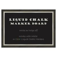 Amanti Art Extra Large Liquid Chalk Marker Board with 2-Tone Frame in Metallic