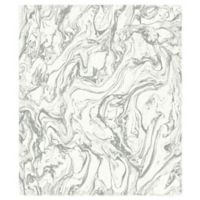 RoomMates® Marble Peel & Stick Wallpaper in Grey