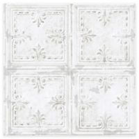 RoomMates® Tin Tile Peel & Stick Wallpaper in White
