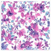 Roommates® Watercolor Floral Vinyl Peel & Stick Wallpaper in Pink/Blue