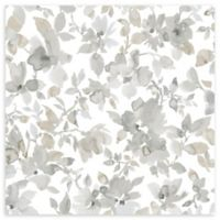 Roommates® Watercolor Floral Vinyl Peel & Stick Wallpaper in Tan