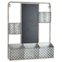 Functional Galv Wall Organizer 16.13-Inch x 3.25-Inch Iron Functional Wall Art in Galvanized