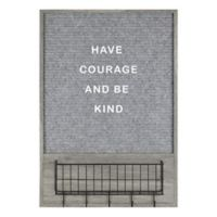 Functional Functional Memo Board 25-Inch x 2.56-Inch MDF Wood Message Board in Gray