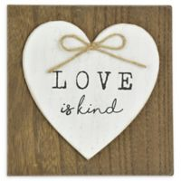 Love Is Kind Wood Wall/Tabletop Art in White