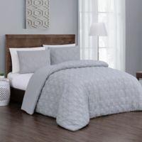 Jess 3-Piece Reversible Queen Comforter Set in Grey