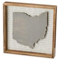 Primitives by Kathy® 12-Inch x 12-Inch Ohio Wood Wall Art