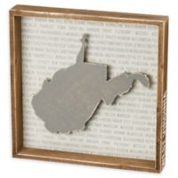 Primitives by Kathy® 12-Inch Square West Virginia Wood Wall Art