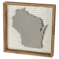 Primitives by Kathy® 12-Inch Square Wisconsin Wood Wall Art