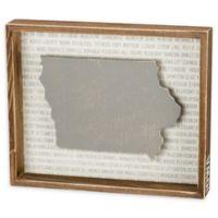 Primitives by Kathy® 12-Inch x 10-Inch Iowa Wood Wall Art